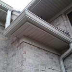 Freeze board, soffit and fascia, seamless aluminum gutter and downspouts