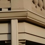 Seamless aluminum gutter and downspout