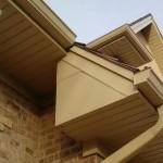 Freeze board, soffit, fascia, gutters, downspout, and gable trim