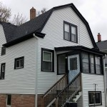 New Siding, window trim, soffit and fascia, and gable trim